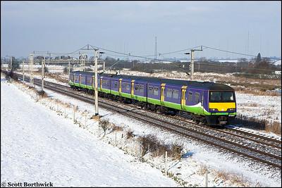 321418 passes Barby Nortoft with 2Y19 1033 Birmingham New Street-Northampton on 03/02/2009.
