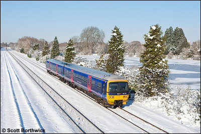 165137 forms 2P50 1207 Oxford-London Paddington passing Hinksey on 07/01/2009.