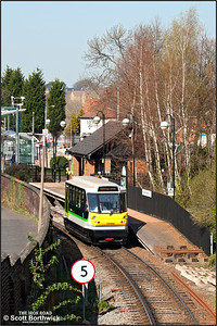 139002 departs from Stourbridge Town forming 2P94 1334 Stourbridge Town-Stourbridge Junction on 27/03/2012.