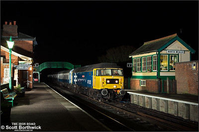 47635 'Jimmy Milne' arrives at North Weald on 25/01/2014.