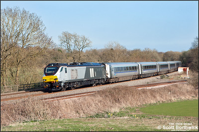 68010 passes Hatton North Jnct whilst in charge of 1R50 1536 MO STP London Marylebone-Birmingham Moor Street on 06/04/2015.