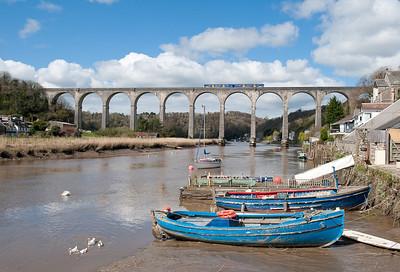 150127 1135 Gunnislake-Plymouth,Calstock viaduct