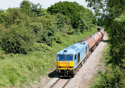 60074 on 6B13 0510 Robeston-Westerleigh nears Westerleigh terminal.