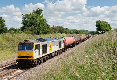 A quick sprint up the line and 60013 is captured at Coaley on the 05:10 Robeston-Westerleigh