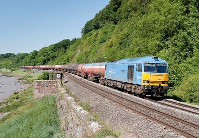 60074 on 6B13 0510 Robeston-Westerleigh at Gatcombe.