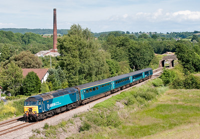57315 passes Ponthir with the 1W91 1615 Cardiff-Holyhead