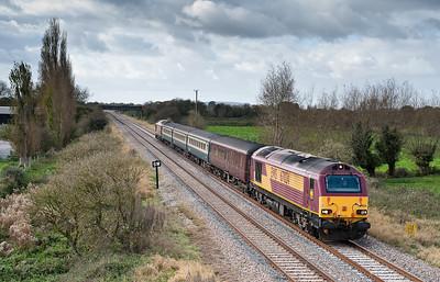 67024/67022 Taunton-Cardiff at Claverham