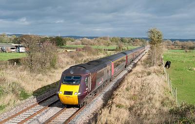 43366/43304 0608 EDi-Plym Arriva 125 at Claverham.