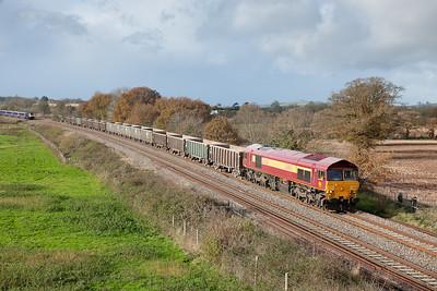 59201 on 6C28 1158 Exeter-Merehead