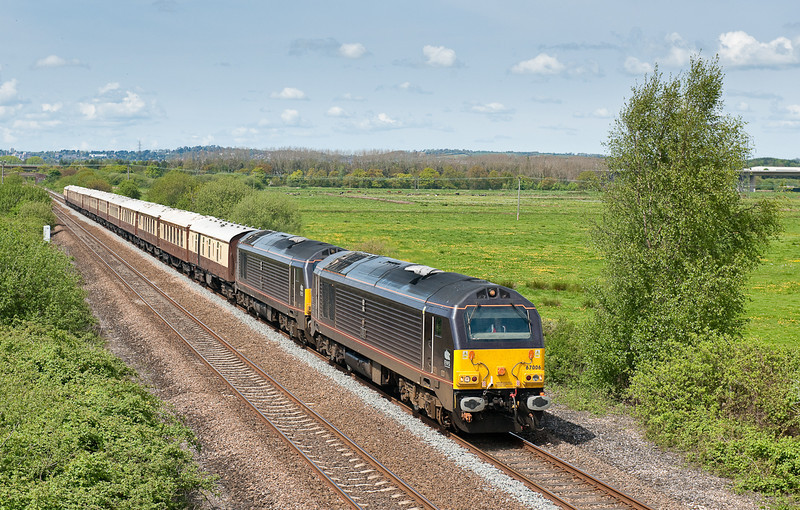 67006 and 67005 1Z88 1350 Taunton-Plymouth VSOE