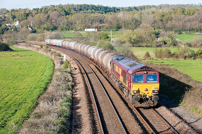 66198 6V62  TO  08:48 Fawley-Tavistock Junction at Langford Bridge