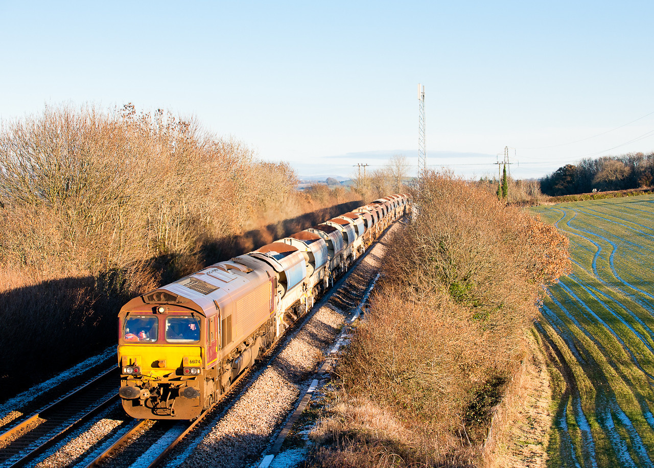 66174 on 6W61 1030 Westbury to Penweathers junction