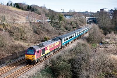 67017 tNt 67016 1247 Paignton-Cardiff near Kingskerswell