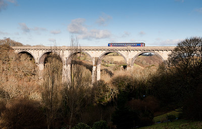 153368 on Ponsanooth viaduct 1450 Truro-Falmouth