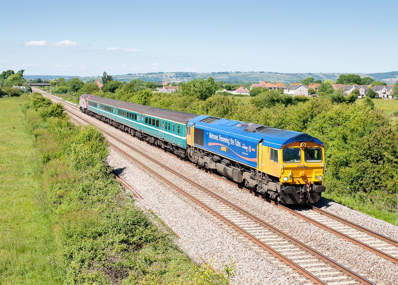 66721 with 57305 1400 Cardiff-Taunton