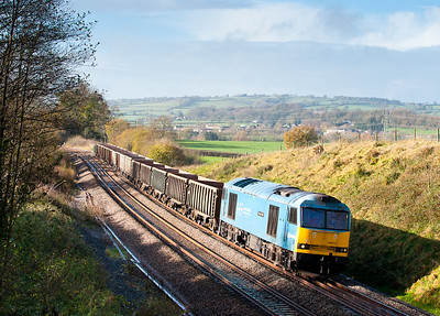 60074 on 7C28 1158 Exeter-Westbury stone at Whiteball