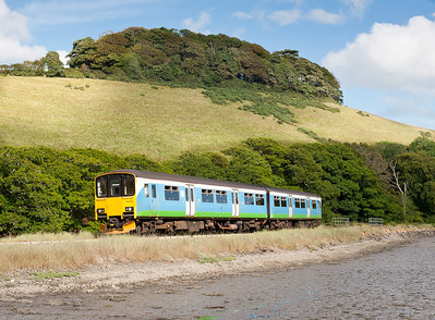210811  The gen came that 150126 was on the looe branch,so with the weather still being good we went for a few shots.Here it is approaching the the favourite location of Terras crossing