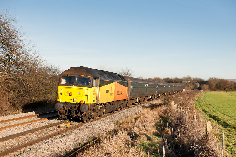 47727 on 5Z47 13:00 Long Marston to Eastleigh Works pass Gossington.