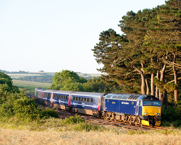 57603 on1C99 23:45 Paddington-Penzance passes Trerulefoot at 0600,its been done to death but its still a nice shot