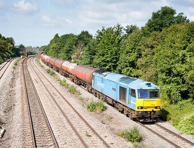 110711 60074 on 6B13  05:05 Robeston-Westerleigh passes Undy.