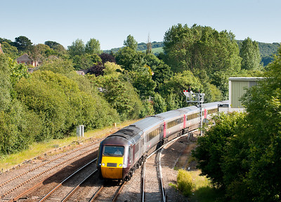 020711 As we had to move location this was a bit of a bonus.43304 /43384 1E75 1625 Pnz-Leeds pass Lostwithiel.