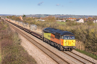 051212 We left Bishton strait away so we quickly got ahead of the logs....56094 on the 6Z52  WO-Q 07:13 Chirk-Teigngrace pass Brent Knoll.Running smack on time then it all went a bit pear shaped after Taunton.