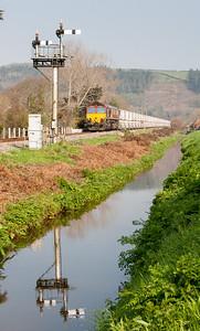 260312 66126 on the 6G06  MWFO 09:38 Goonbarrow-Fowey  at Middleway crossing