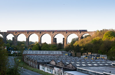 160512   A quick drive and 57602 is caught again over Moorswater viaduct.