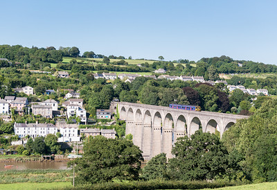 160813  Whilst we are in this part of the world this shot has to be done.....150266 heads across the mighty Calstock viaduct.