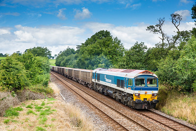 120813 The stone/sand finally ran again with a 59 on it to boot.Any chance of sun for a decent working????...what do you think.Photo courtesy of Adobe lightroom 5.....59101 on the 7Z27 11:13 Burngullow ECC to Exeter Riverside NY passes Bethany