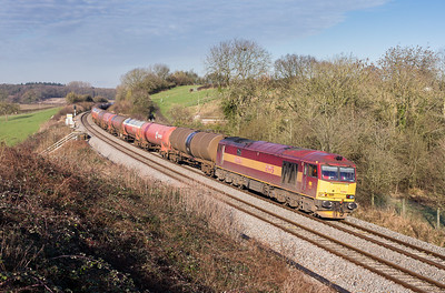 110113  There was a bit of extra freight activity in Cornwall today but as I looked into the county at 0800  it was total crud.A quick look on the jamcams  further north showed full blue....lets go.60065 on 6B13 05:07 Robeston-Westerleigh pass Huntingford.