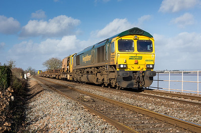 270113  66599 on 6Y27 Gloucester-Hackney pass Powderham.