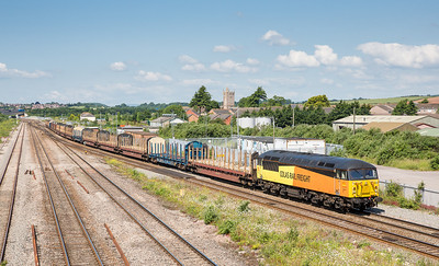 250613 We could see it was slowing down as it passed us at Magor so a quick drive and another shot was had.56094 on the 6Z52 07:13 Chirk-Teigngrace pass STJ.