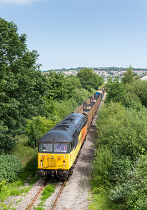 250613 Just about got it in the sun....56094 is on the Teigngrace branch and is seen approaching Jetty Marsh bridge,Newton Abbott.At last a real good day out.
