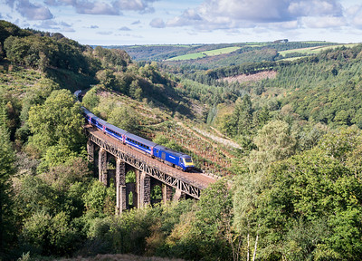 051013  September was almost a total write off weather wise and this is our last day by the lineside for a few months.The first sunny day in ages sees FGW 125 head over Largin with a Penz-Padd working