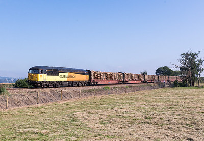 """040913  Meanwhile I had joined the mini gallery to get the """"new shot"""" at Powderham 56087 passes Powderham foot crossing with 6Z53  Teigngrace-Chester...please keep running!!!!"""