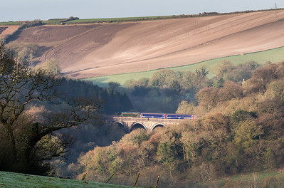 140414  This was totally unplanned........57604 again,this time heading over Milltown viaduct.