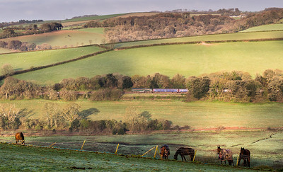 140414  Was doing some location finding near Lostwithiel and I had not realised I had beat the sleeper from Moorswater.57604 heads up trevveran bank near Milltown.