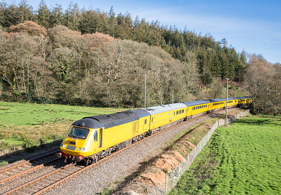 110414   An evening shot going out of Cornwall........its got to be Restormel,with the bonus that there has been a huge lineside clearance,this shot has not been possible for years.The assistant in the mini gallery bags a cracker........43014  and 43013 on 1Z20 1634 Penzance -Derby pass Restormel.
