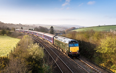 140414  This is the shot I really wanted and despite the blue skies it took a very lucky break in the cloud to get this.After a 15 minute stop at Liskeard 67604 is caught again having just crossed Moorswater viaduct on 1C99 2350 Paddington to Penzance.My first decent shot of 604 on the beds...nice.