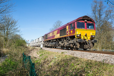 150414   66176 has just left Lostwithiel and is passing through Coulson park.