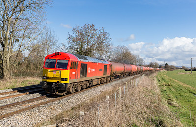 010314   A decent Saturday forecast and the first long drive for us.60059 passes Gossington with 6B13 05:04 Robeston-Westerleigh