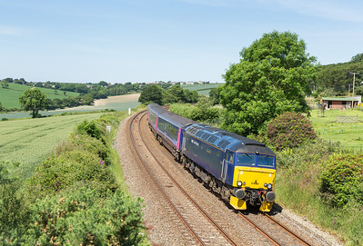 140614   Finally a bit of decent weather for the Saturday sleeper working.I have been after a loco at this spot for a while and the assistant bags a nice one..... 57605 passes Trenowth with 5E75 1015 Long Rock - Par ECS.