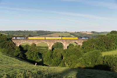 130614  I went for a more beam on shot and it was a near perfect fit....37607 + 37610 cross Bolitho Viaduct on 1Z03 03:43 Plymouth to Bristol Barton Hill.Its only 0635 and I have 3 cracking shots in the bag,is this really Cornwall?????