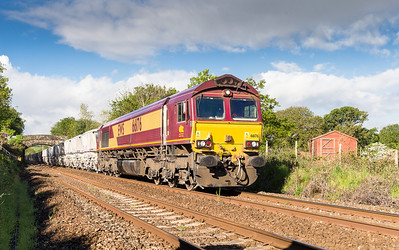 210514  Passing the newly cleared Treesmill 66176 grinds upgrade with the 6G06 07:40 Goonbarrow-Fowey