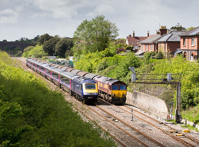 070514  A fgw heads to Paddington as 66050 sits in  Chipping Sodbury loop with 6O32 10:00 Margam-Dollands Moor