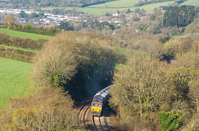 200415  Working hard out of Par,66092 heads into the morning sun en route to Fowey.