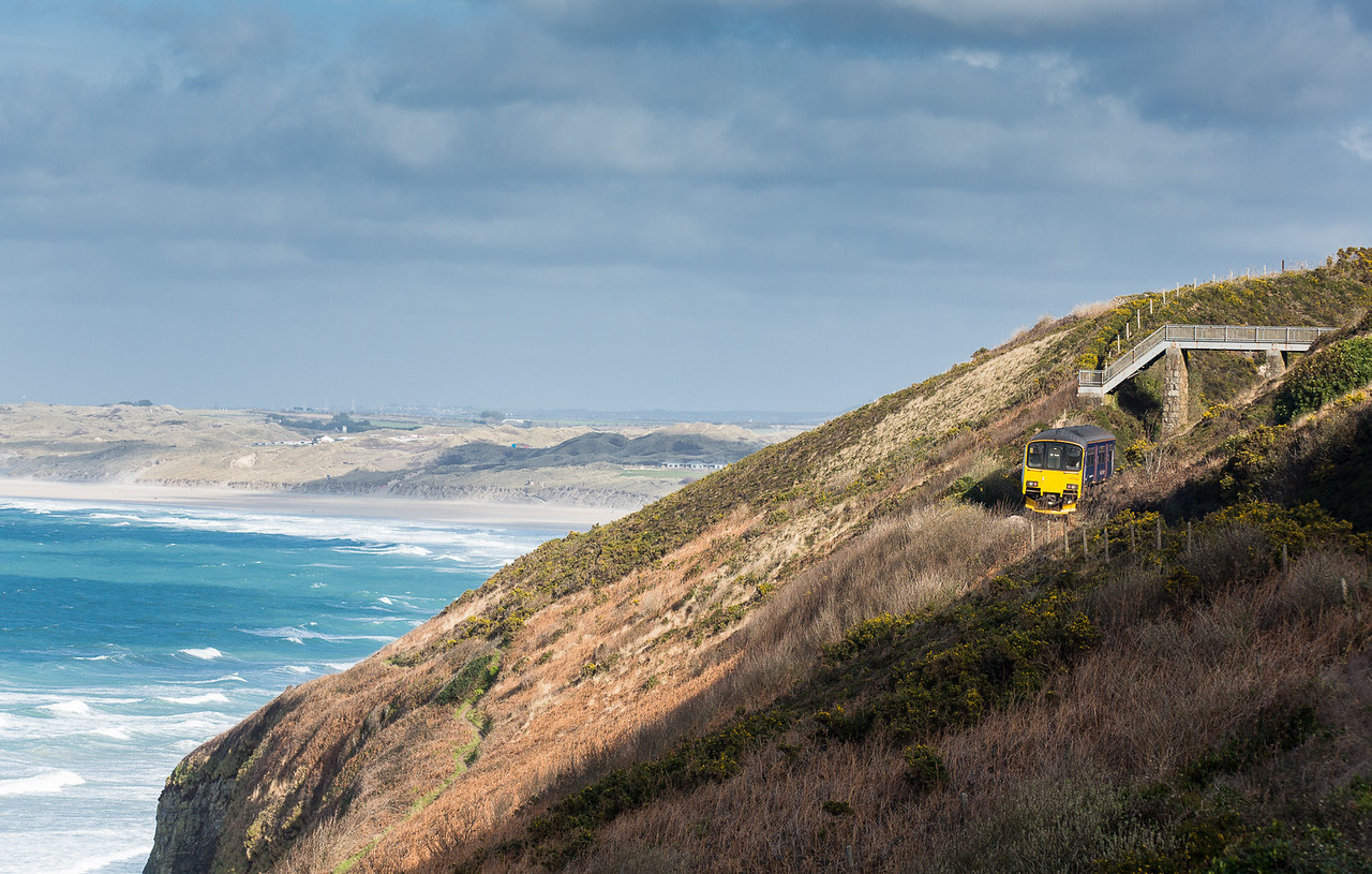 130315  Hugging the cliff above Carbis Bay .......