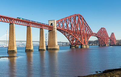 210416 Another crystal clear morning in Scotland,whats going on???  68003 2K18   07:35 Cardenden-Edinburgh head over the Forth rail bridge