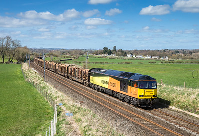 190416. 60096 passes Yanwath with the  6J37  11:59 Carlisle yard-Chirk
